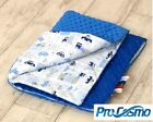 Very Cosy Blanket 100x75cm for Cot CotBed Pram Crib Minky & Cotton Blue Cars