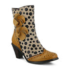 New L'Artiste Women's Beige Black Polka Dots PERIGNON-BGE Fashion Boots