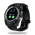 New Round Face Bluetooth Smart Watch Phone Stainless GSM Phone Mate for Android