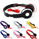 3.5mm Over Ear Bendable Audio Headphones Headsets Games For iPad iPhone iPod PC