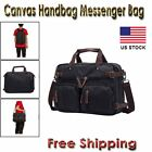 Canvas Men Laptop Shoulder Messenger Handbags Bag Tote Satchel Backack Briefcase