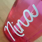 3 X Personalised Name Stickers Love Island Own Water Bottle Make Your Vinyl B1