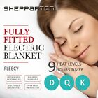 Fleecy Electric Blanket Heated Warm Fully Fitted Double King Queen Size