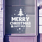 Merry Christmas Xmas Happy New Year Snow Display Window Wall Decal Stickers A413