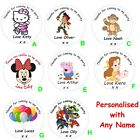 40 Personalised Birthday Party Thank You Stickers Labels Boys or Girls Any Name