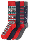 Club Room Men's 4-Pack Different Pattern Socks Gift Box, Shoe Size 7-12, $24