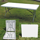 4ft 5ft 6ft Folding Portable Table For Kitchen Dining Home Garden BBQs Parties