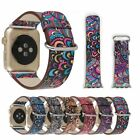 For Apple Watch series 2 1 Colorful Leather Band Strap & Adapter iWatch 38/42mm