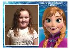 "PRINCESS ANNA OWN PERSONALISED PHOTO A4 EDIBLE BIRTHDAY PARTY CAKE TOPPER 11""X8"""