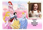 DISNEYS PRINCESS OWN PERSONALISED PHOTO A4 EDIBLE BIRTHDAY PARTY CAKE TOPPER