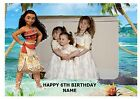 "PRINCESS MOANA OWN PERSONALISED PHOTO A4 EDIBLE BIRTHDAY CAKE TOPPER 11""X8"""