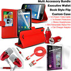 Quality Leather Wallet Protection Phone Case Cover✔Accessory Pack✔Red