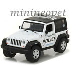 GREENLIGHT 42800 D 2009 JEEP WRANGLER BURLINGTON WISCONSIN POLICE CAR 1/64 WHITE