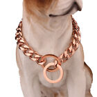 10-19MM Cool 316L Stainless Steel Curb Cuban Link Dog Chain Collar Choker 12-32