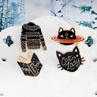 1Pc Beauty Cartoons Black Cat Animal Sweater Badge Metal Brooch Pins Jewelry