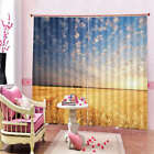 Autumn Sunny Day Yellow Paddy 3D Curtain Blockout Photo Printing Curtains Drape