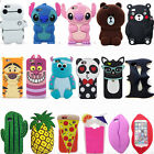 3D Cartoon Kumamon Sulley Stitch Bear Silicone Phone Case For iPhone X 5 6 7 8