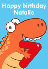 Personalised Dinosaur birthday card Any age New A5 free p+p