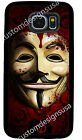 GUY FOX FAWKES MASK V PHONE CASE COVER FOR SAMSUNG NOTE GALAXY S3 S4 S5 S6 S7 S8