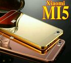 For Xiaomi mi5 Aluminum Metal Frame+Mirror Acrylic Glass Back Cover Case