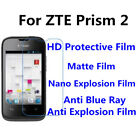 3pcs For ZTE Prism 2 High Clear Anti Scratch,Anti Blue Ray Screen Protector