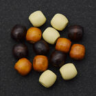 20 Pcs Wooden Beads Dreadlock Hair Bead for Hair Extension Jewelry DIY Craft
