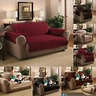 LUXURY QUILTED SOFA CHAIR PROTECTOR FURNITURE SLIP COVER THROW WATER REPELLENT