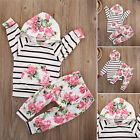 Rose Toddler Kids Baby Girl Hoodie Tops +Pants Leggings 2Pcs Outfits Set Clothes