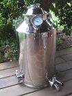 "13 Gallon Stainless Steel, Moonshine Whiskey Still Boiler kettle 2"" lid"