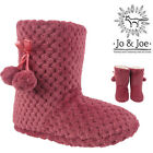 NEW LADIES KNITTED SNUG BOOTS WINTER FLEECE WARM WINTER COZY SIZE UK 3 4 5 6 7 8