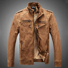 New Men's Lambskin Leather Jacket Black Slim fit Biker Motorcycle jacket