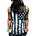 Mens Gym Fitness American Flag Muscle Tank Top T-Shirt Workout Singlet Tee Shirt