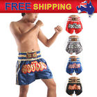 AU New Boxing Shorts Muay Thai Kick Boxing Fighting MMA Satin Lined design M-3XL