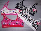 GIRLS TOTAL GIRL RUCHED CROP BRA MULTIPLE COLORS/PATTERNS /SIZES NEW WITH TAGS