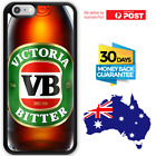 TPU Rubber Shockproof Bumper Case Cover Beer VB Glass Can Themed Banter Image