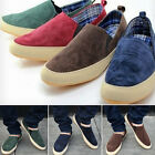 Men's Casual Breathe Freely Canvas Sneakers Love Present Slip On Loafer Shoes