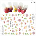 Nail Art Accessories - Beauty 3D Colorful Decal Flower Stickers Nail Art Tips DIY Decoration Lday