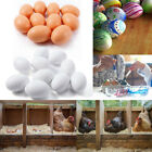 10x Wooden Fake Artificial Eggs Decorative Kids Play Food Toys Painting Craft