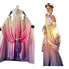 Star Wars 3 Padme Amidala Naberrie Cosplay Dress Side Wedding Gown Costume $134.64 AUD