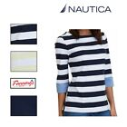 NWT WOMENS NAUTICA Blouse Top SHIRT 3/4 Sleeve Chambray Cuff MANY COLORS & SIZES
