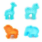 3D Animal Cookie Cutter Icing Mold Cake Plunger Fondant Decorating Baking Mould