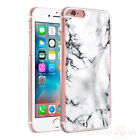 Marble Black White Grey Clear Sides Hard Case Cover For Various Mobile Phones