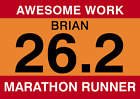 Personalised Congratulations marathon running card Race number style Any age A5