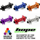 Hope Pro 4 Fatsno Front Hub 32H - All Colors, Width and Axle Options - Brand New