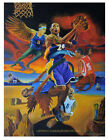 KOBE BRYANT, BLACK MAMBA, Defeating The Demons. One of a kiind Surreal SportsArt