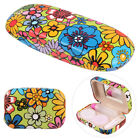 Flower Print Eyeglasses Case Reading Glasses Shell Contact Lens Case Box Set