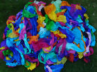 200grams Recycled silk leftover pieces,5mm Chinese silk,various multi-colors
