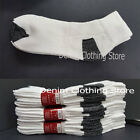 Wholesale Lots Mens White W Black Sports Cotton Ankle Low cut Socks 9 11 10 13