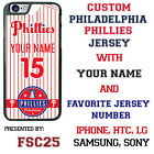Custom Philadelphia Phillies Jersey Phone Case with Your Name & # for iPhone
