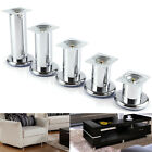4X 6-18CM HIGH BRIGHT CHROME PLATED CABINETS SOFA LEGS FURNITURE FEET MODERN